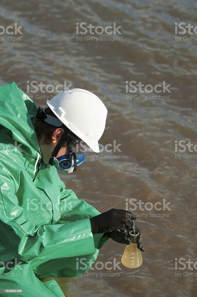 Water quality inspector royalty-free stock photo