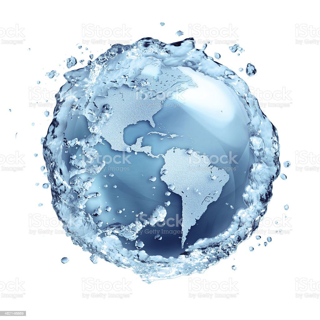 water recycle on the world - Usa stock photo
