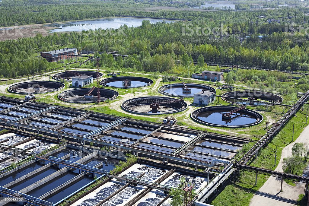 Water recycling in big sedimentation drainages royalty-free stock photo