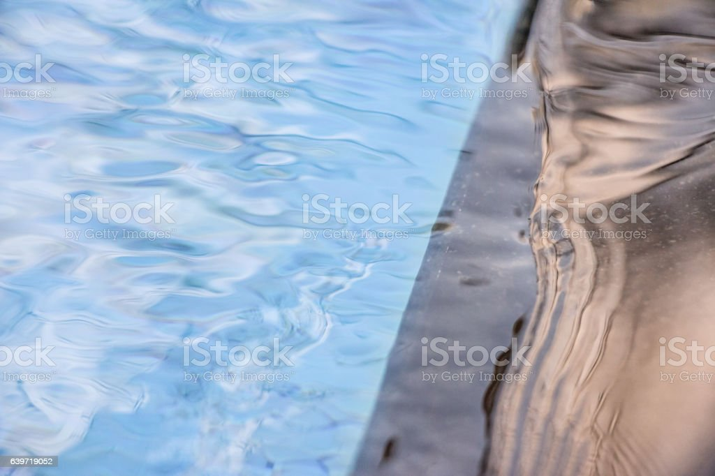 Water reflections of peace and harmony. stock photo