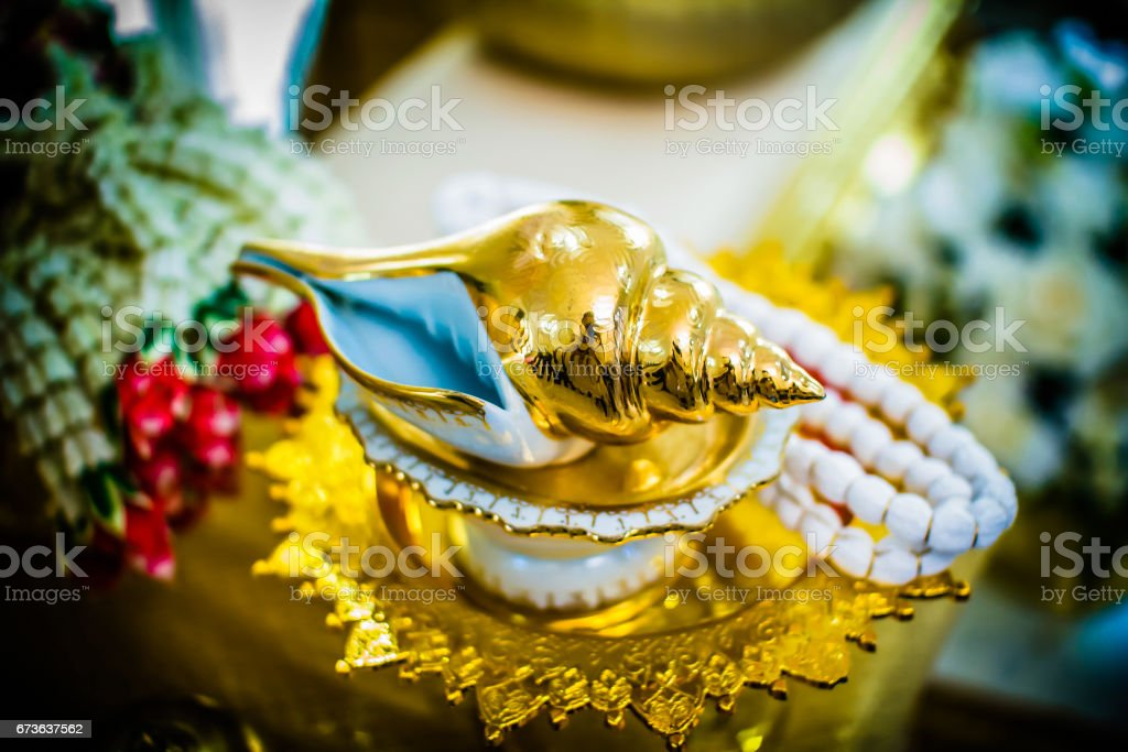 Water relaunch for Thai traditional wedding stock photo