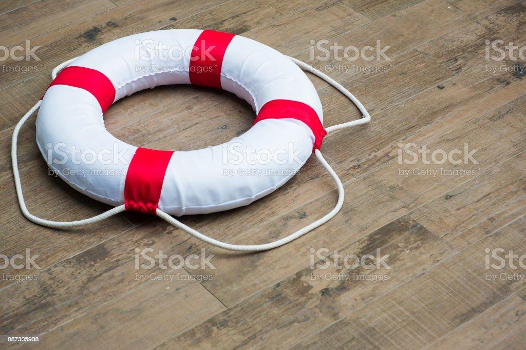 Water rescue emergency equipment stock photo