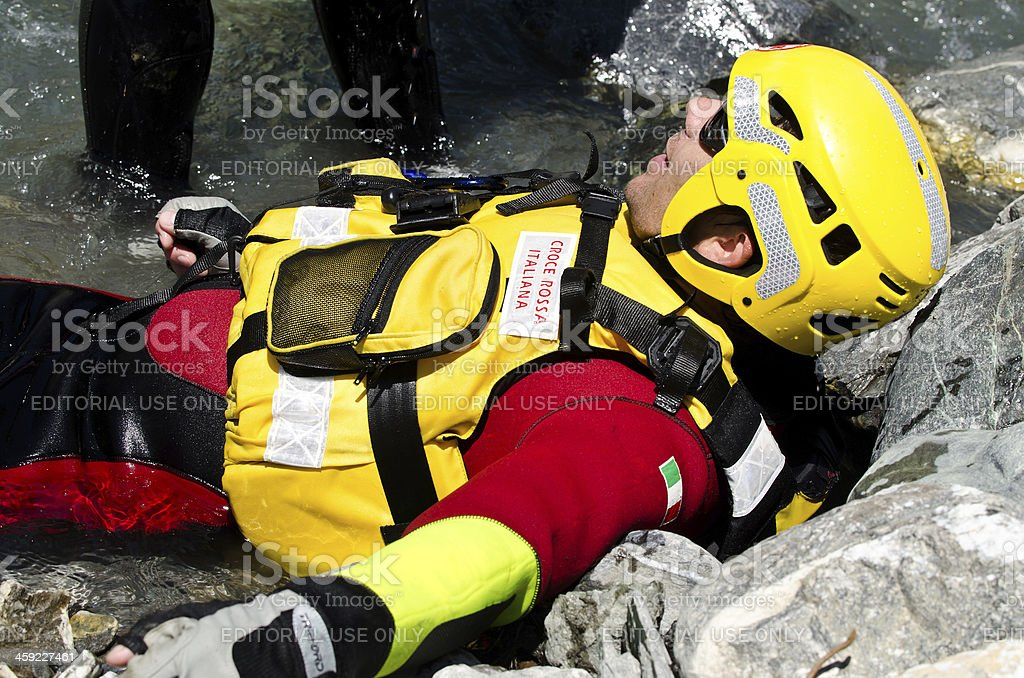 water rescue exercise royalty-free stock photo