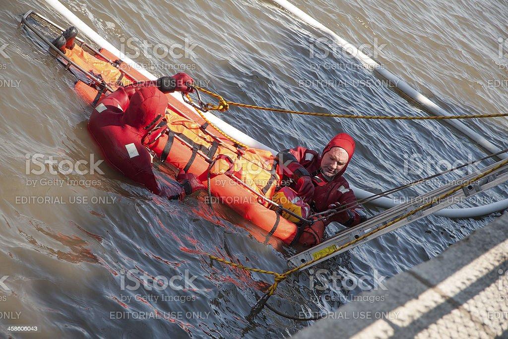 NYFD water Rescue training stock photo
