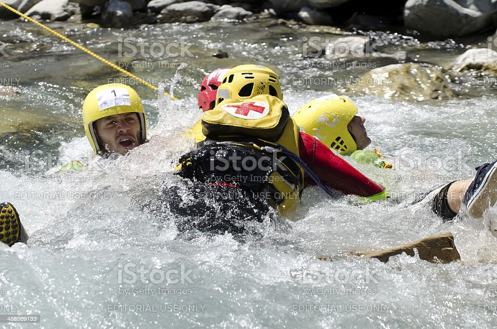 Water rescuers royalty-free stock photo
