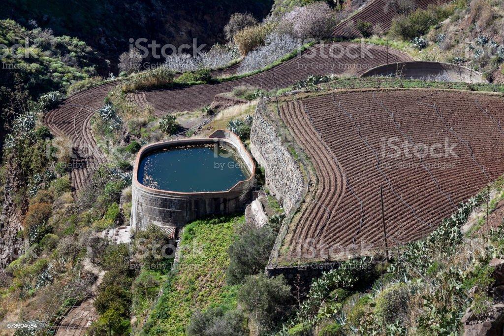 Water reservoir stock photo