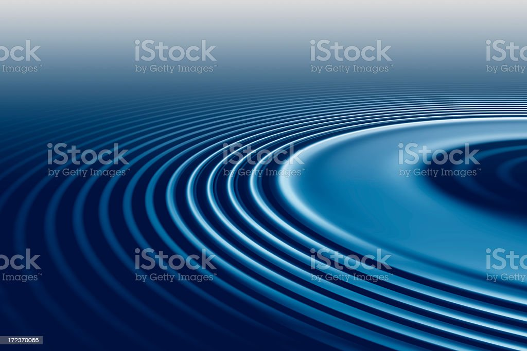 Water ripples blue stock photo