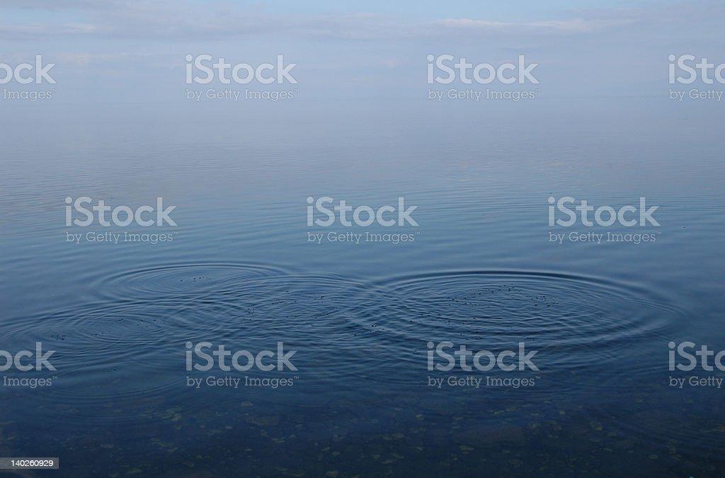 Water Ripples in Lake Baikal royalty-free stock photo