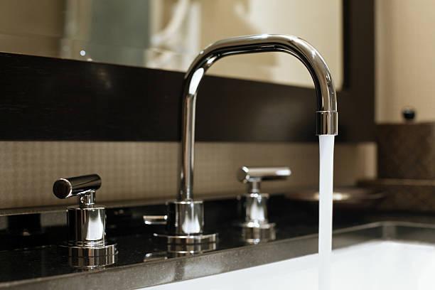 Water Running From Faucet stock photo
