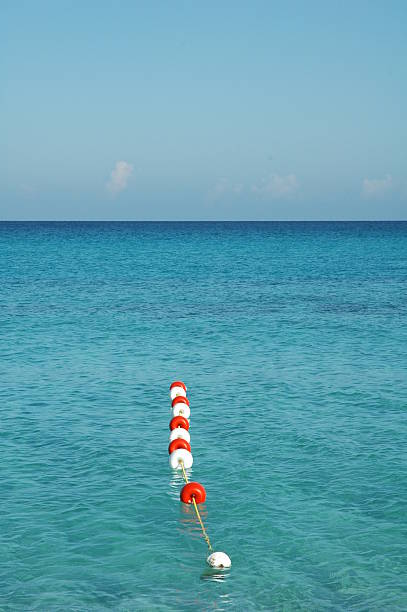 Water safety zone stock photo