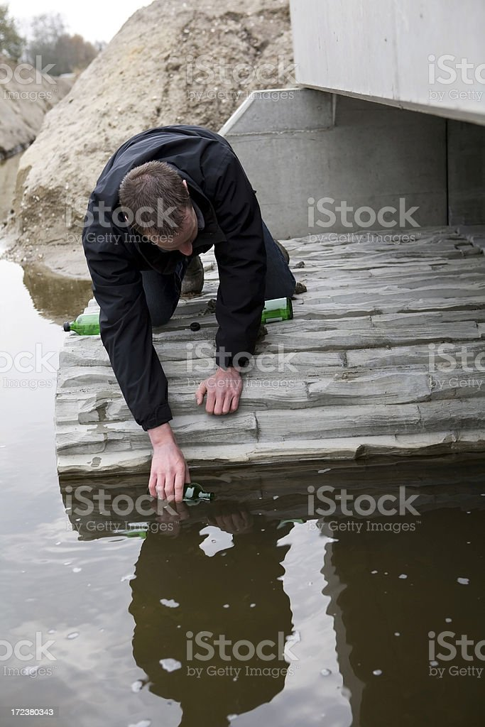 Water sample royalty-free stock photo