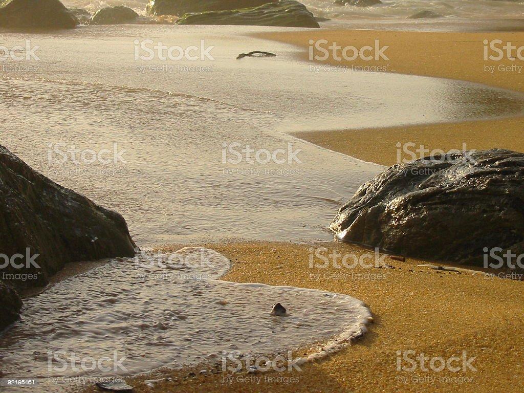 water sand rocks 7 royalty-free stock photo