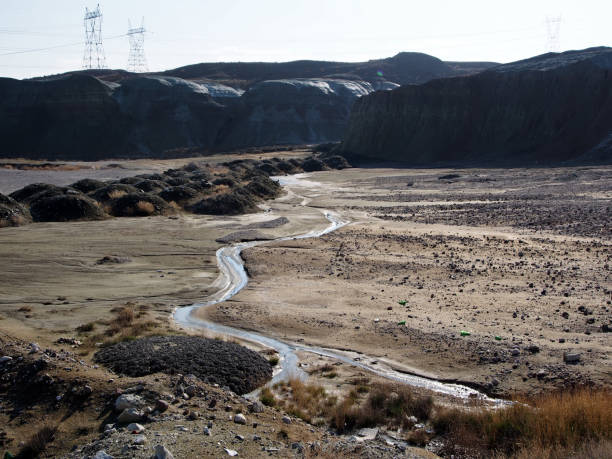 Water scarcity and drought stock photo