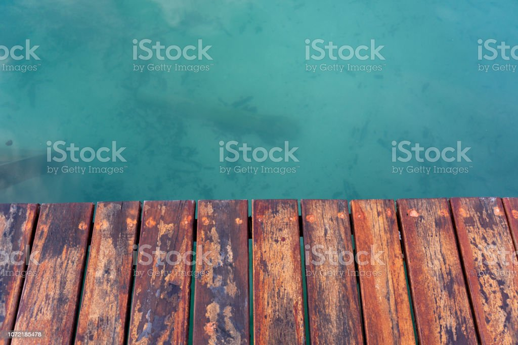 Ver agua de muelle - foto de stock