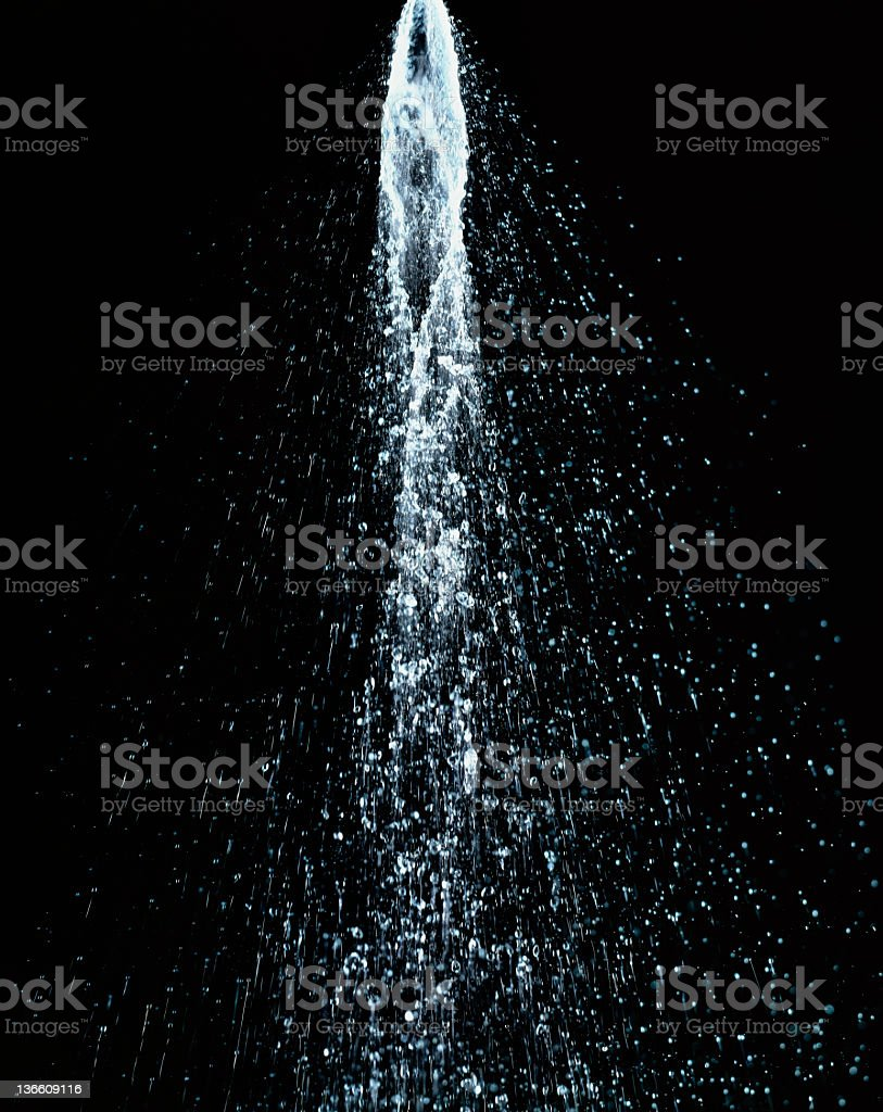Water shower XXL stock photo