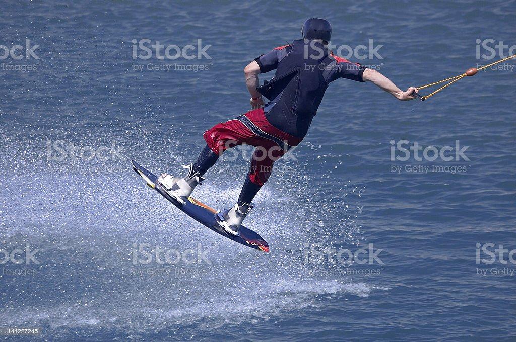 Water ski jump stock photo