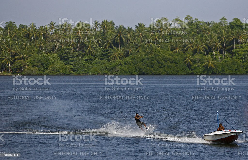 Water skier royalty-free stock photo