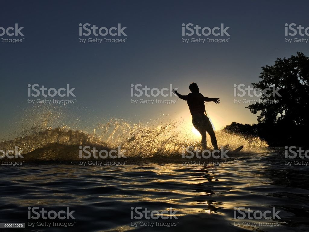 Water Skier stock photo