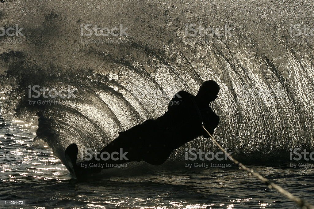 water skiing royalty-free stock photo