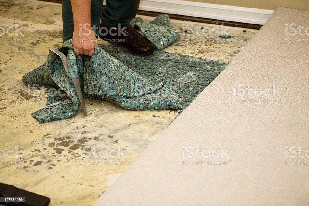 Water Soaked Carpet Pad stock photo