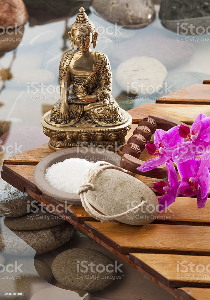 water spa treatment for beautiful bodycare stock photo