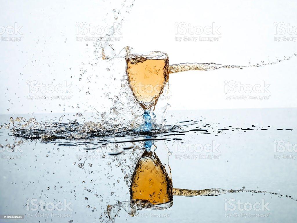 water spashing on glass stock photo