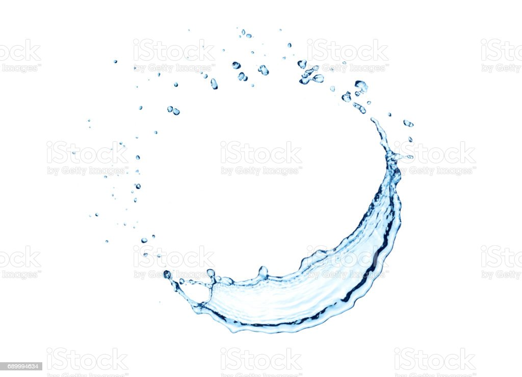 water splash circle isolated stock photo
