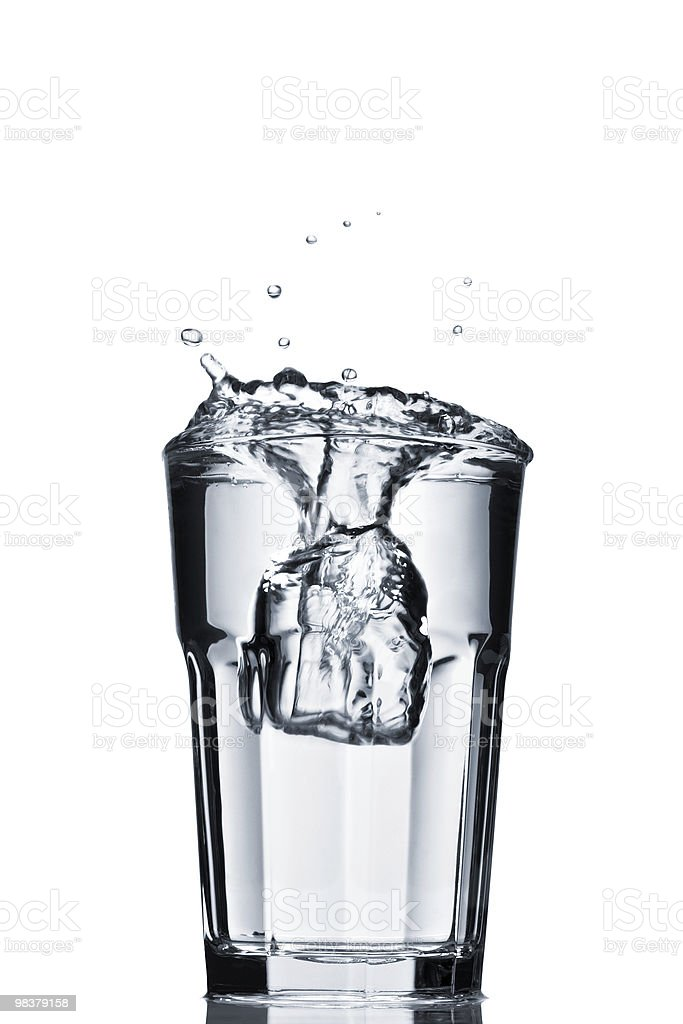 Water splash in faceted glass royalty-free stock photo