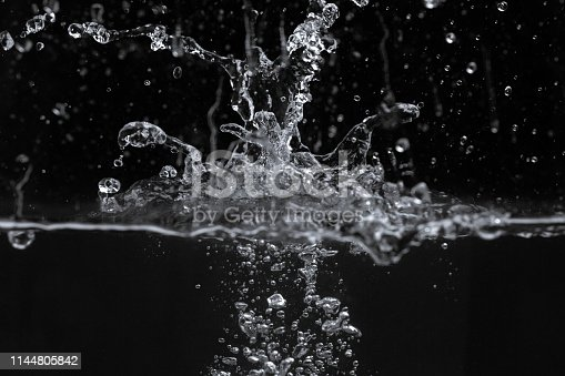 134949478 istock photo Water splash isolated on black background 1144805842