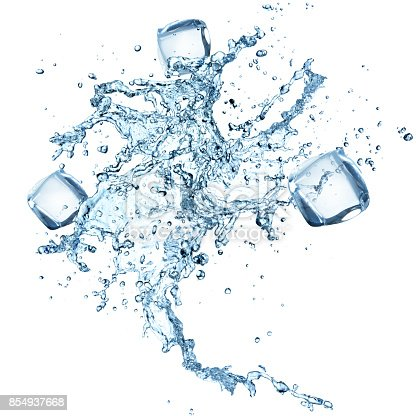 859844580 istock photo Water splash isolated on white background 854937668