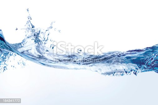 istock Water splash isolated on white 154341772
