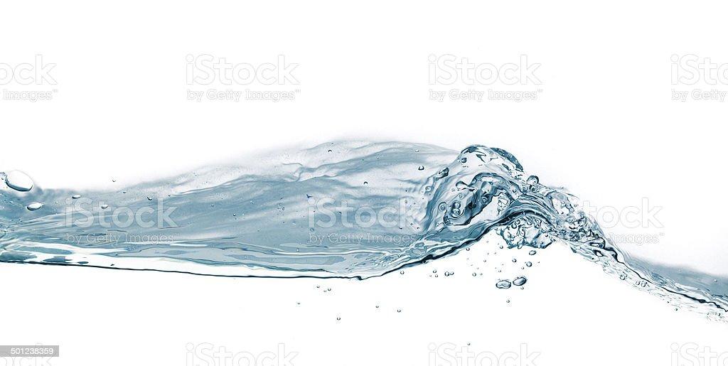 Water splash isolated on white. royalty-free stock photo