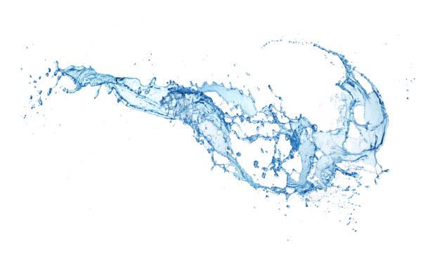 water splash isolated - water splash imagens e fotografias de stock
