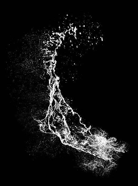 Water splash isolated,Super size stock photo