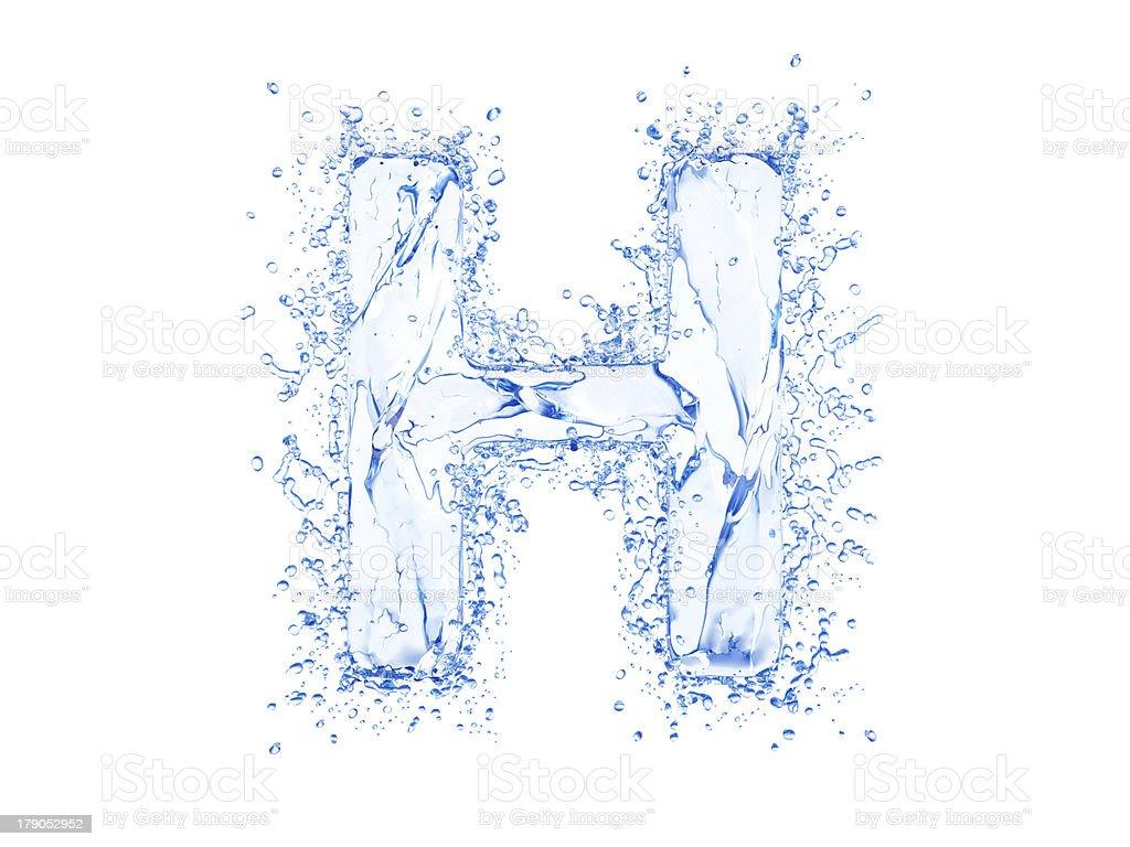 Water splash letter royalty-free stock photo