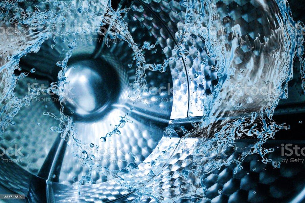 Water splash of the washing machine drum stock photo