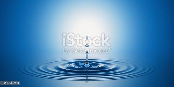 Water splash. 3D render.