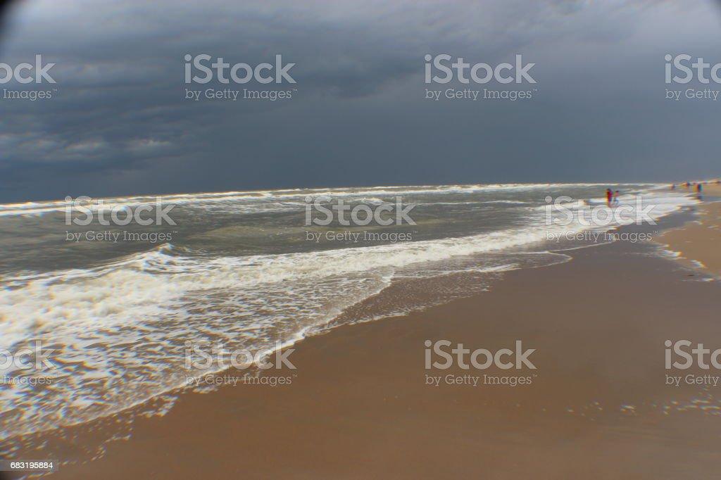 Water splashing ashore royalty-free 스톡 사진