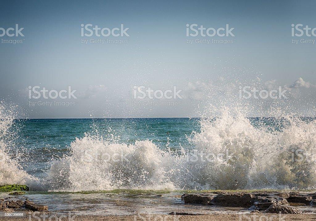 HDR salpicaduras de agua en el mar foto de stock libre de derechos