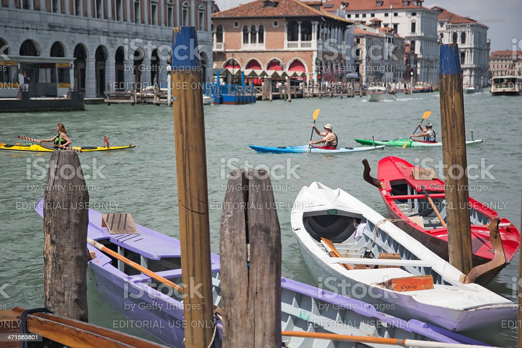 Water sports in Venice, Italy royalty-free stock photo