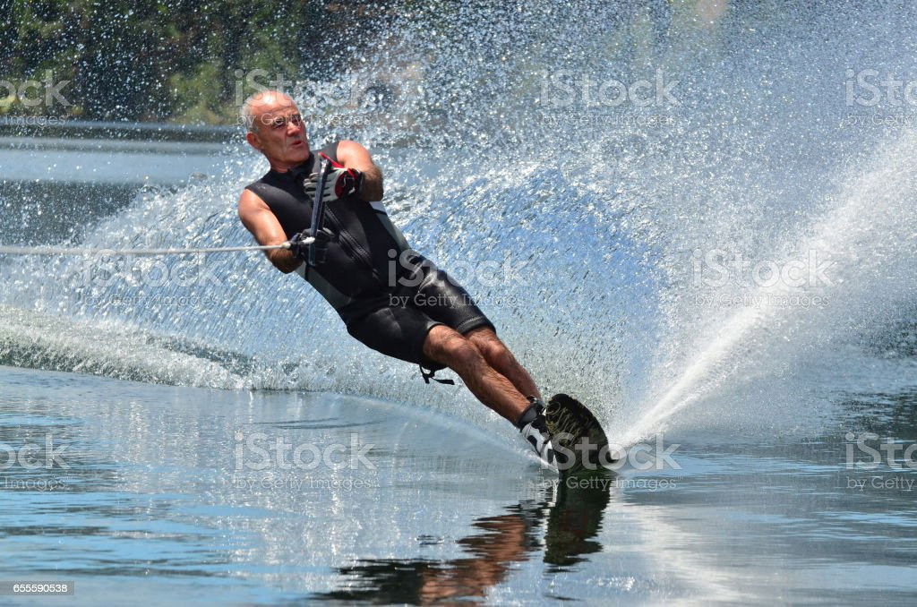 Water Sports - Water Skiing stock photo