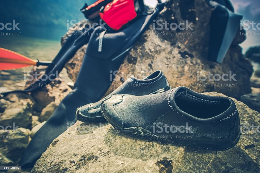 Water Sports Wetsuit stock photo