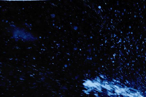 Water Spray on Dark Background