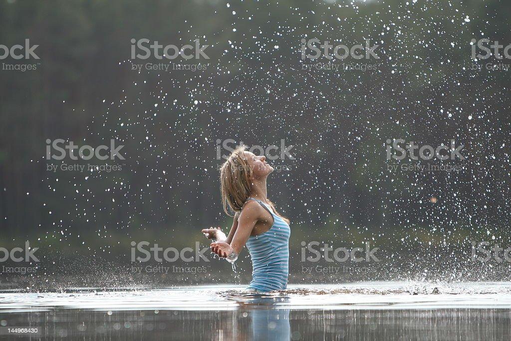 Water spray stock photo