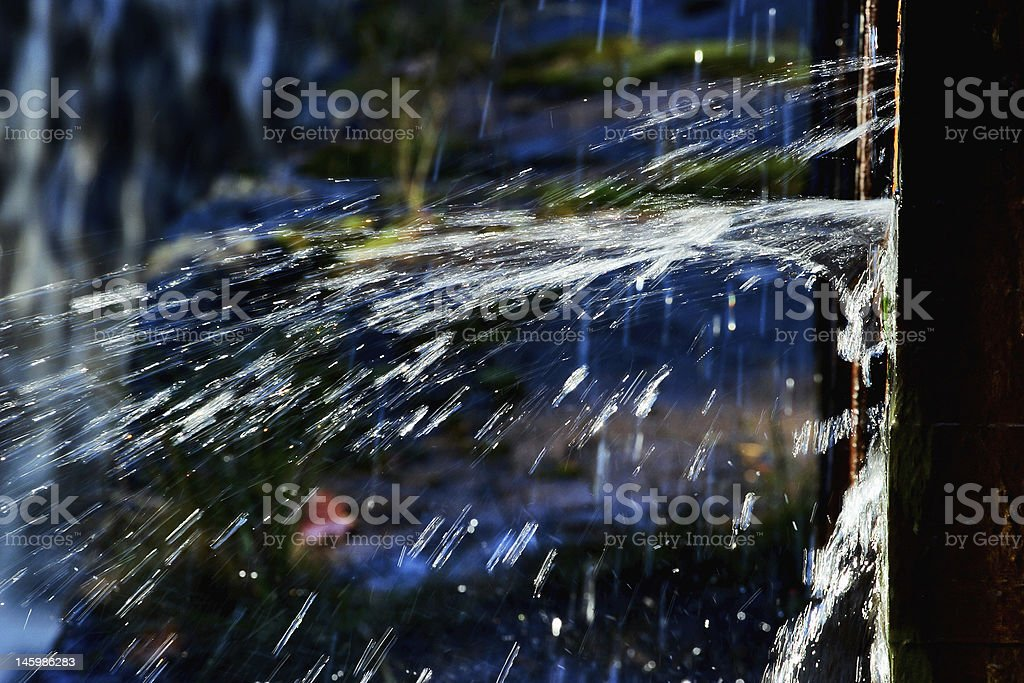 water spray royalty-free stock photo