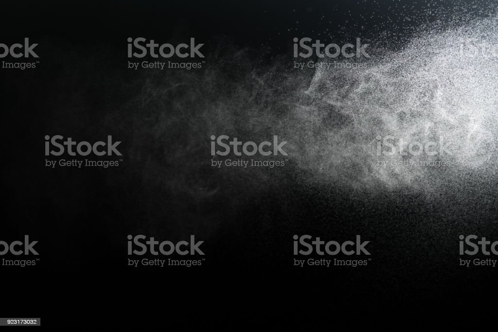 water spray with black background stock photo