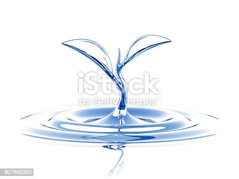 869441068 istock photo Water Sprout Splash 907860350