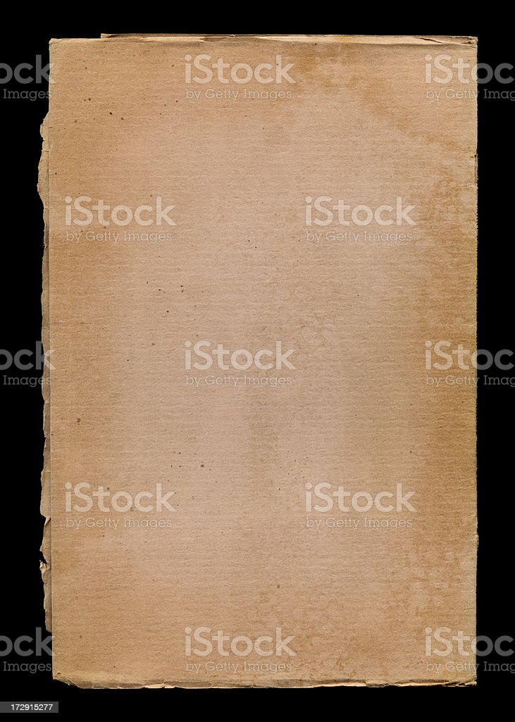water stained cardboard royalty-free stock photo