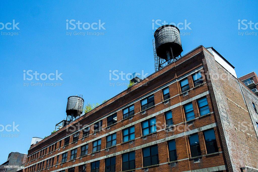 Water Storage Manhattan stock photo