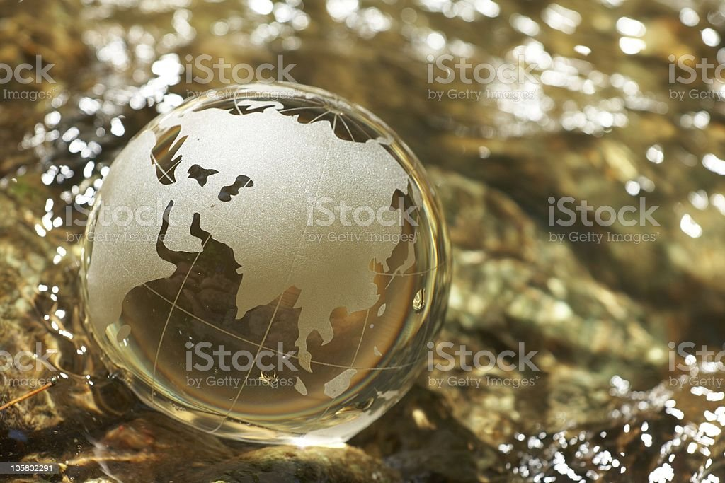 Water  stream, globe, ecology royalty-free stock photo